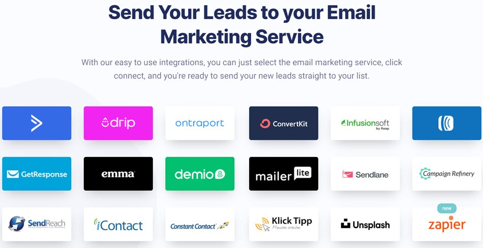 Send Your Leads to Your Email Marketing Service