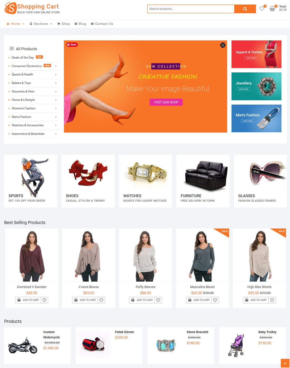 ShoppingCart Free WooCommrece Online store Example