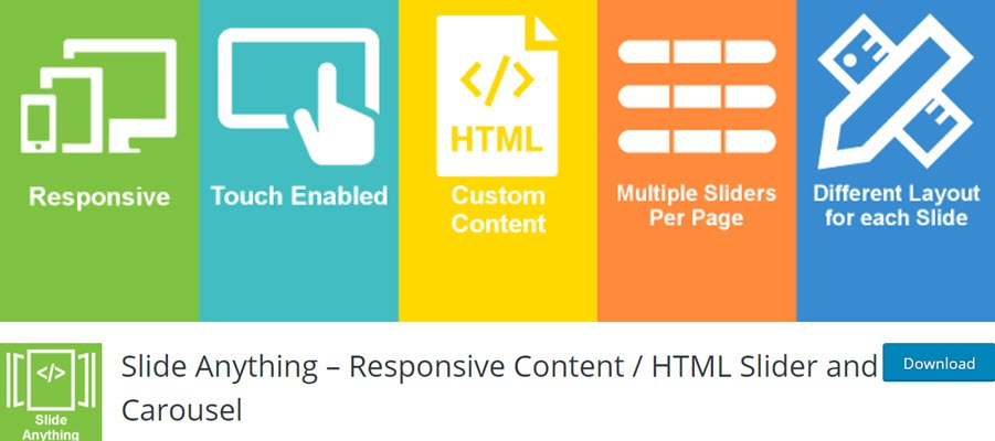 Slide Anything – Responsive Content HTML Slider and Carousel