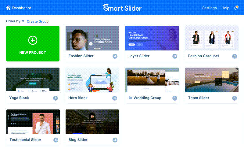 Smart Slider Dashboard