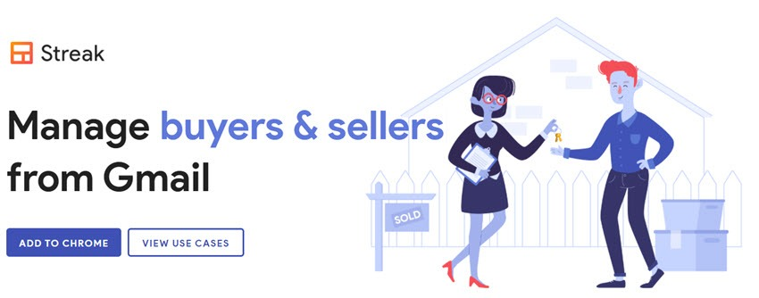 Streak Manage Buyers & Seller From Gmail