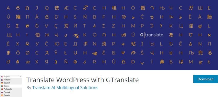 Translate WordPress with GTranslate