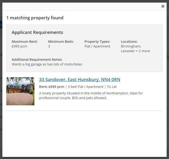 View List Of Properties That Match The Application Requirements