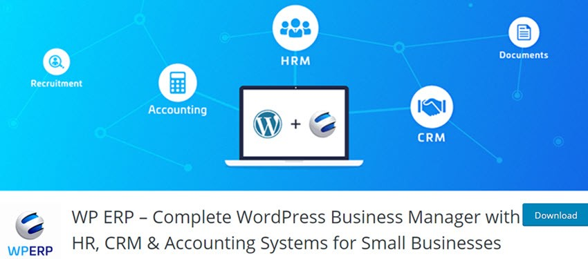 WP ERP Complete WordPress Business Manager with HR, CRM & Accounting Systems for Small Businesses