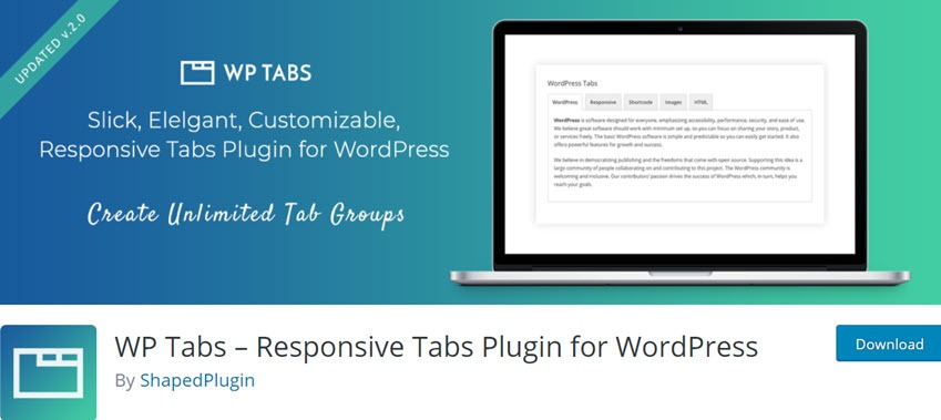 WP Tabs – Responsive Tabs Plugin for WordPress