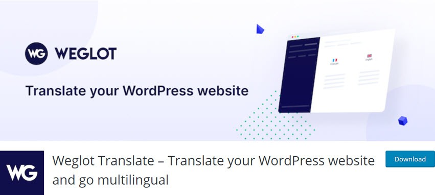 Weglot Translate – Translate your WordPress website and go multilingual