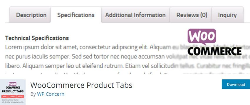 WooCommerce Product Tabs