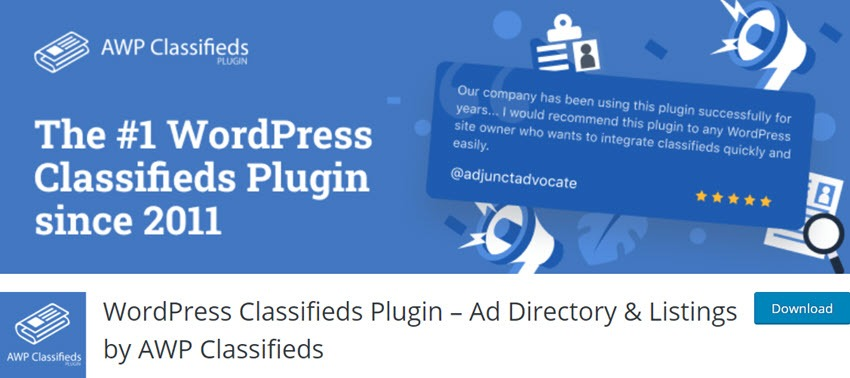 WordPress Classifieds Plugin – Ad Directory & Listings by AWP Classifieds