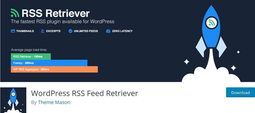 WordPress RSS Feed Retriever