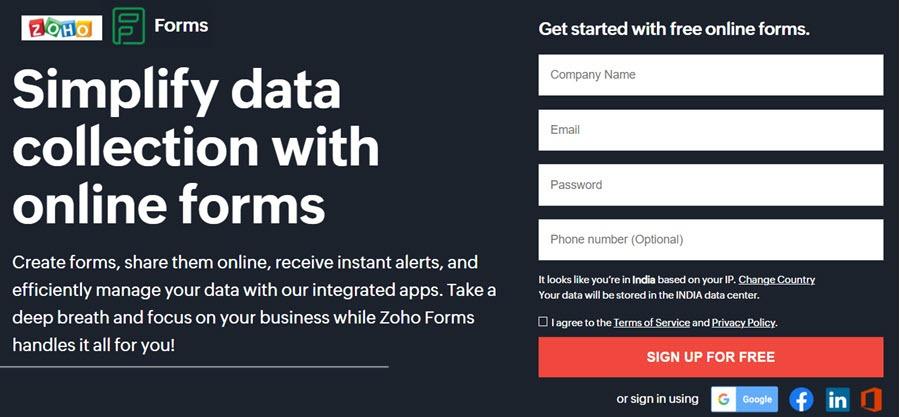 Zoho Forms