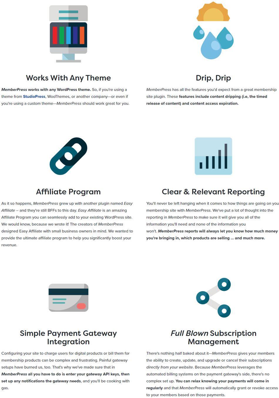 memberpress Feature Screenshot