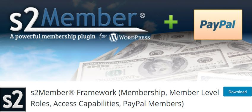 s2Member Framework (Membership, Member Level Roles, Access Capabilities, PayPal Members)