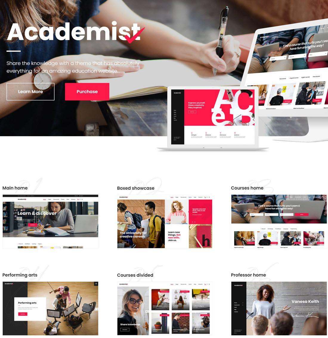 Academist Education & Learning Management System Theme