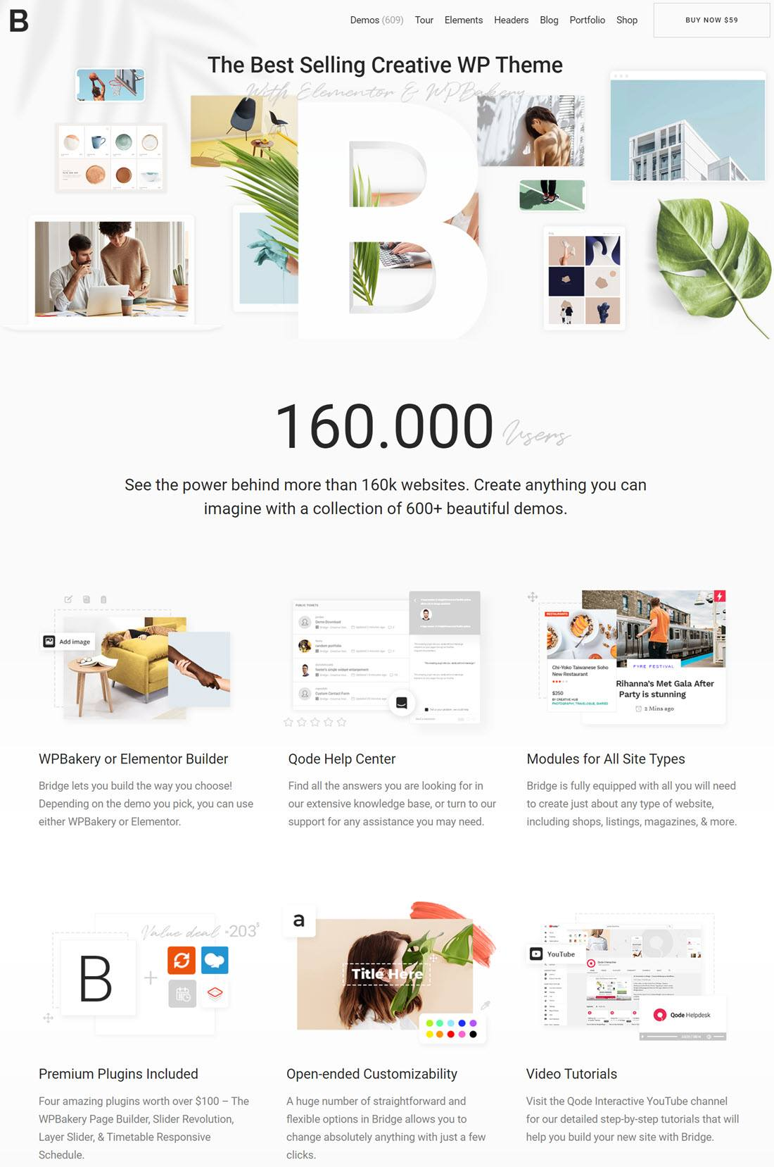 Bridge Creative Multipurpose WordPress Theme Screenshot