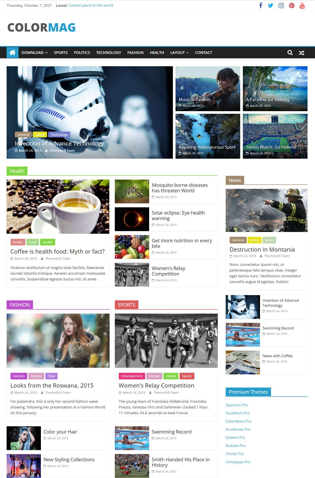 ColorMag Theme For WordPress ScreenShot