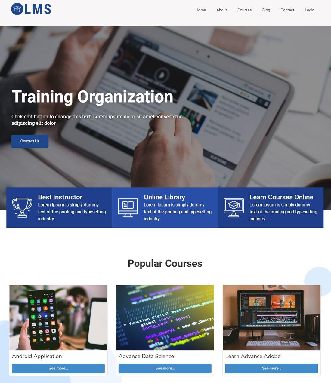 CyberChimps Training Organization LMS Theme