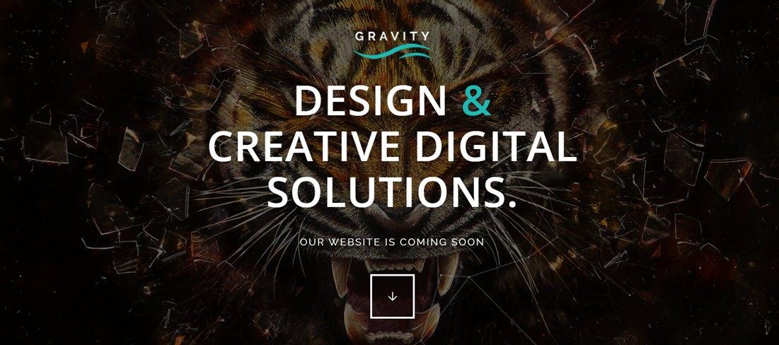 Gravity Multi-Purpose Coming Soon Theme Screenshot