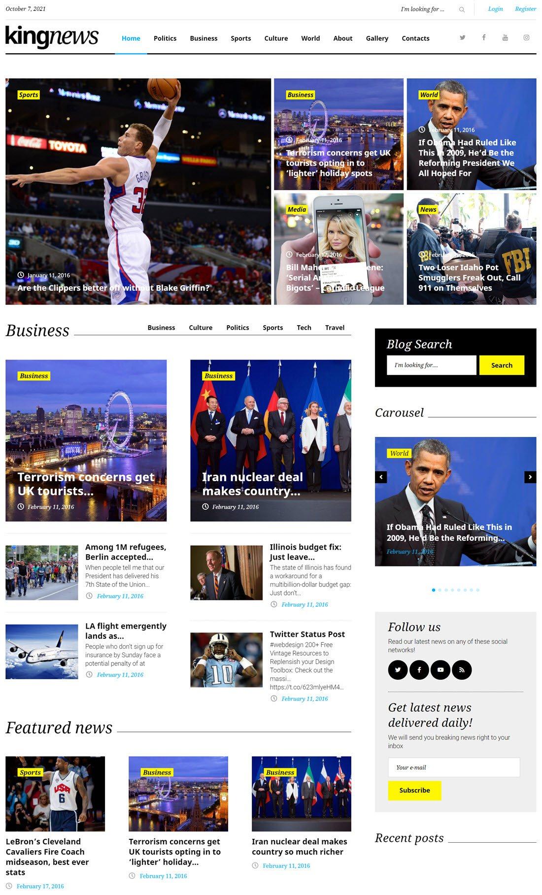 KingNews News Portal & Magazine WordPress Theme Screenshot