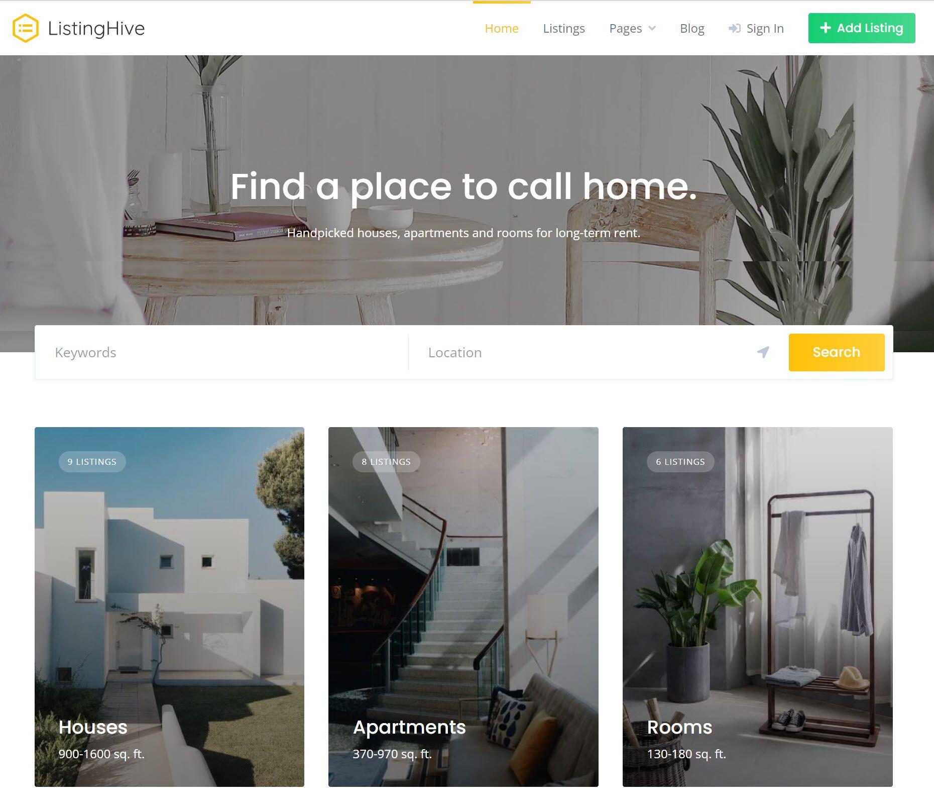 ListingHive Directory Theme Screenshot