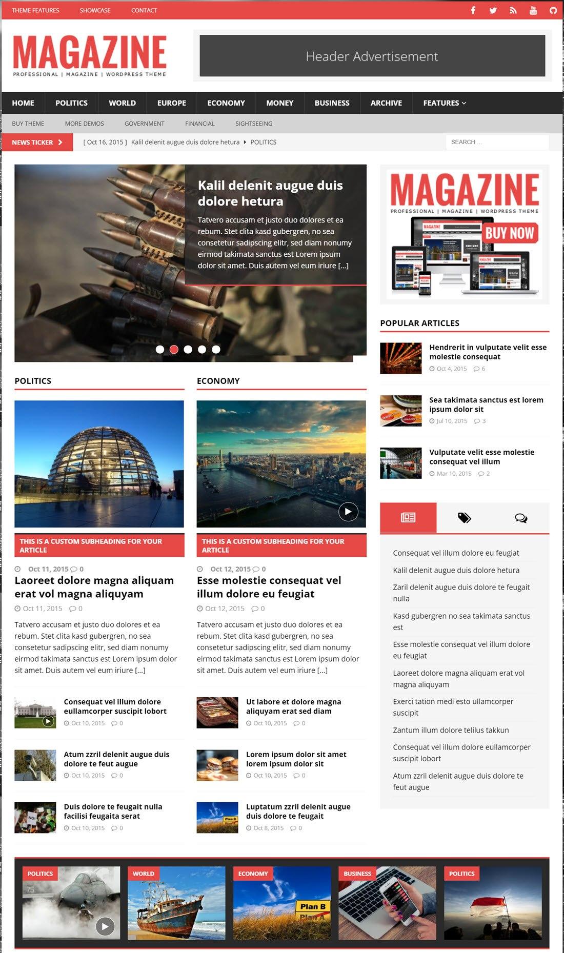 MH Magazine lite Theme For WordPress Demoe For WordPress Screenshot Demo