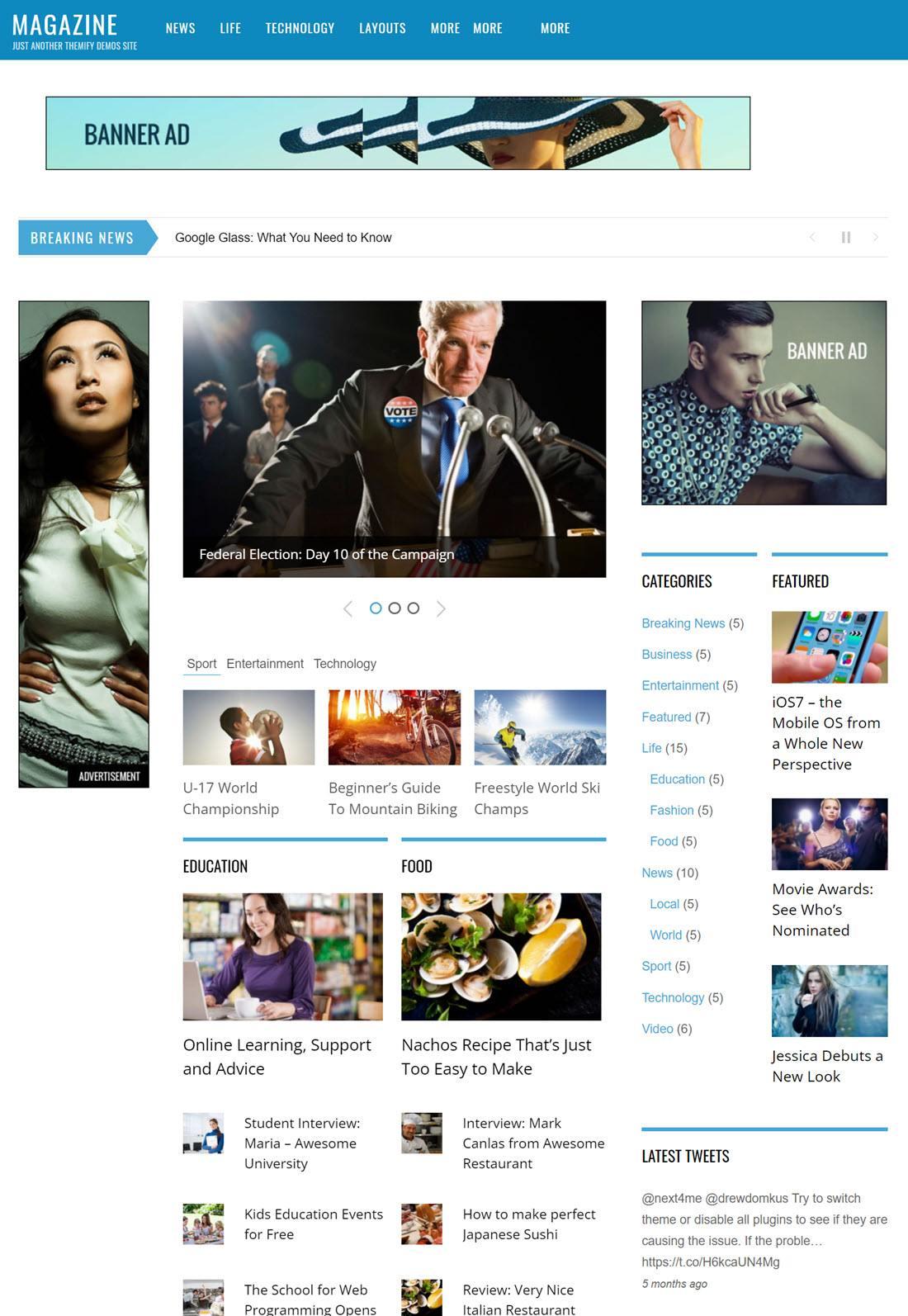 Magazine Theme For WordPress Screenshot Demo