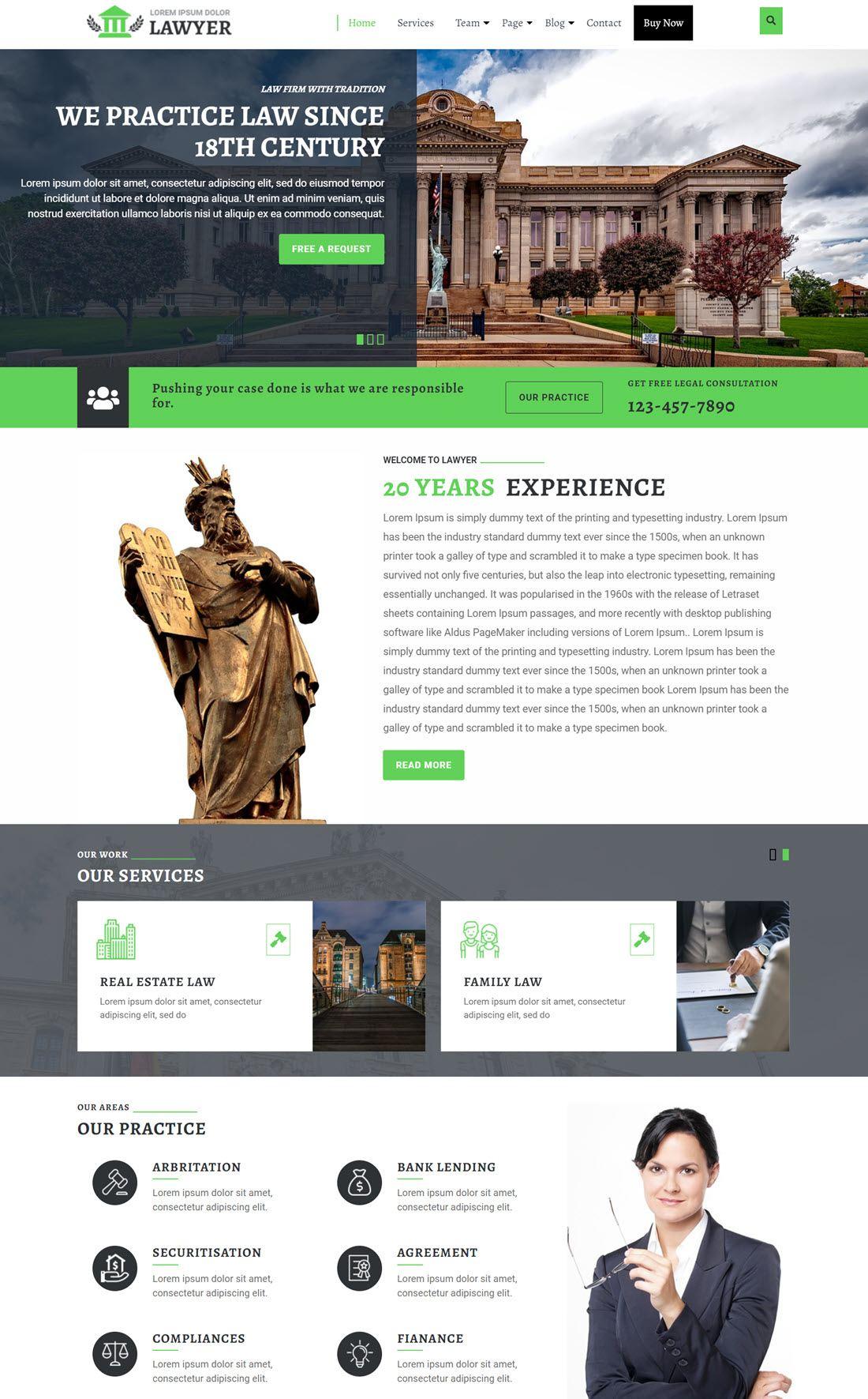 Multipurpose Lawyer Theme For WordPress Screenshot