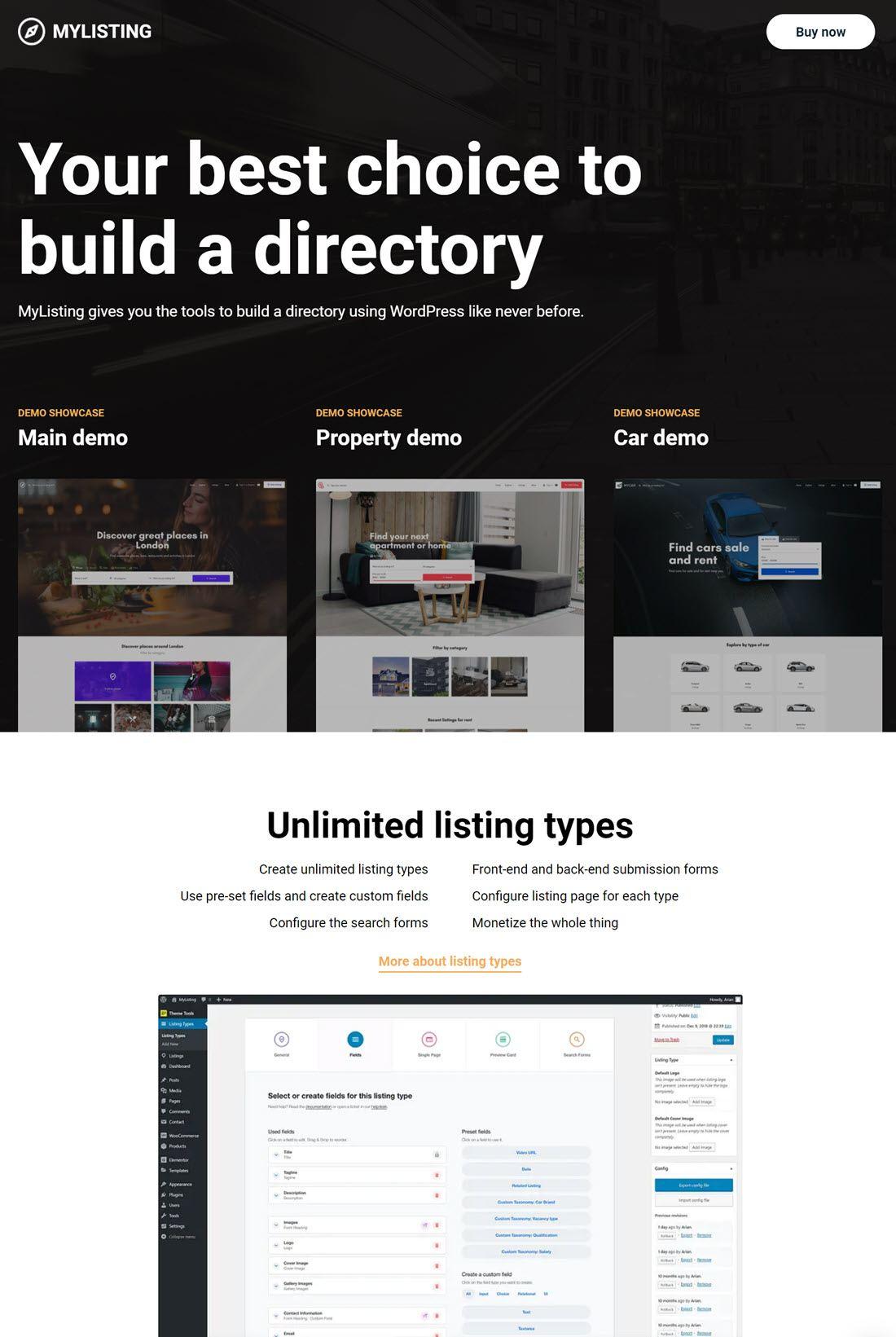 MyListing Directory theme ScreenShot Demo