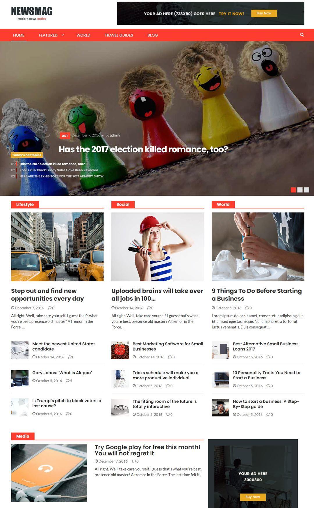 NewsMag Theme For WordPress Screenshot