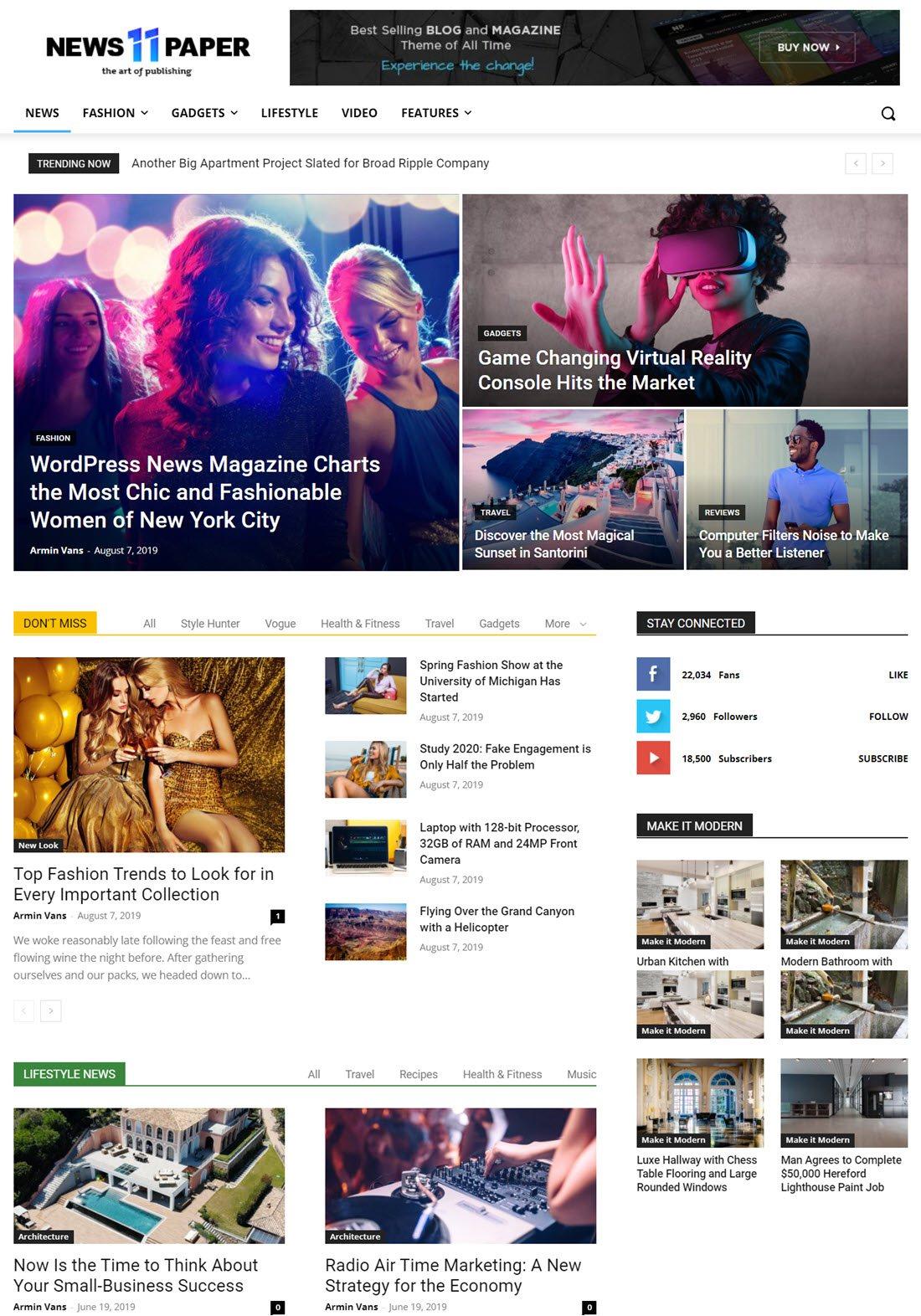 Newspaper News & WooCommerce WordPress Theme Screenshot
