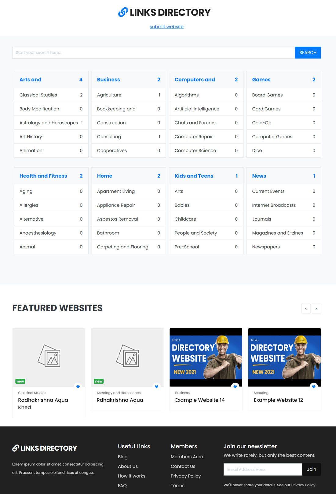 PremiumPress Links Directory Theme Demo