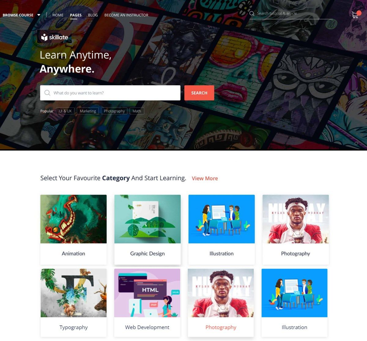 Skillate Feature packed WordPress eLearning theme powered by Gutenberg