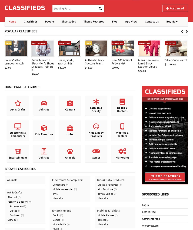 Templatic wordpress directory themes Demo