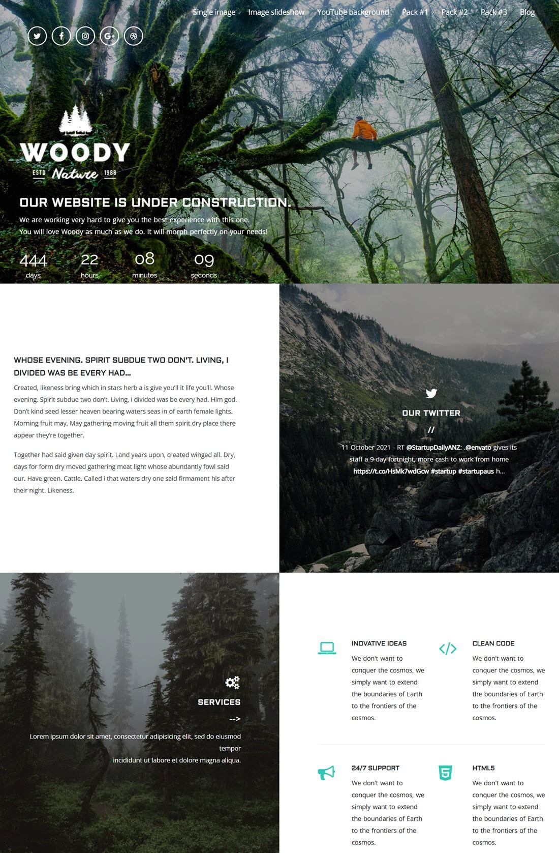 Woody Exclusive Coming Soon WordPress Theme Screenshot