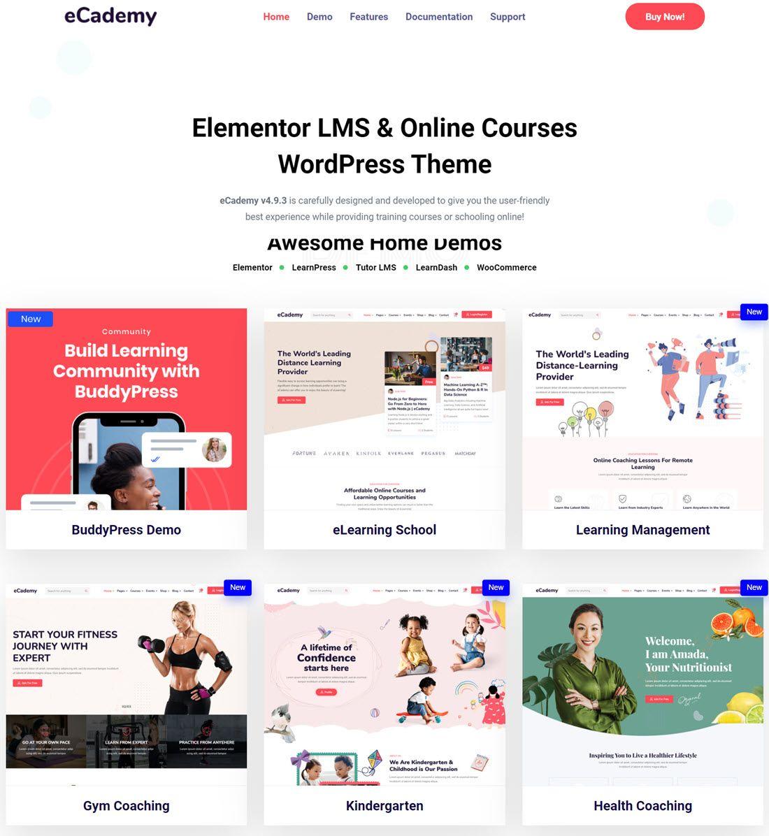 eCademy Elementor LMS, Online Courses & Training Education Theme