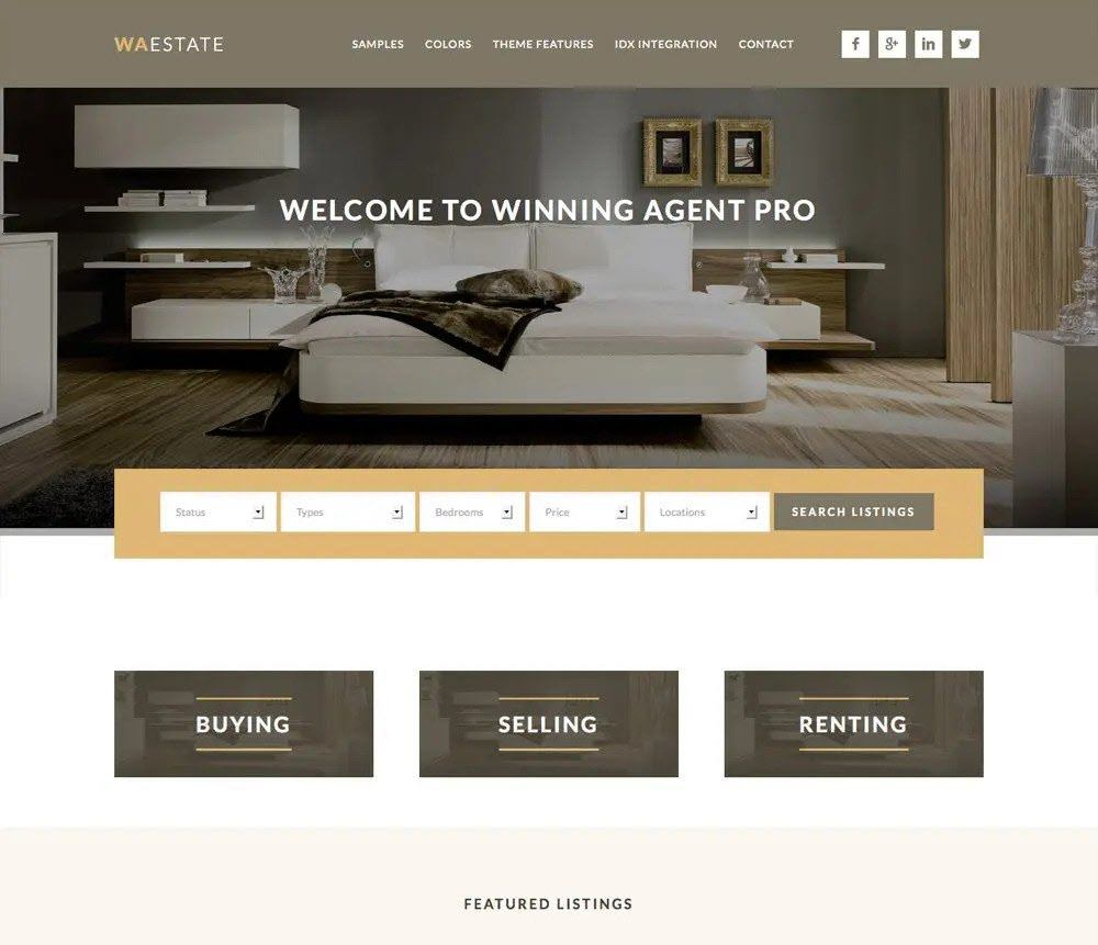 winning agent pro Directory Theme Screenshot